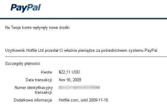 wypłata z hotfile