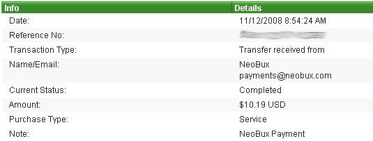 Wypłata z NeoBux